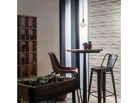 Taupe Waved Ceramic Tiles (25cm x 60cm)