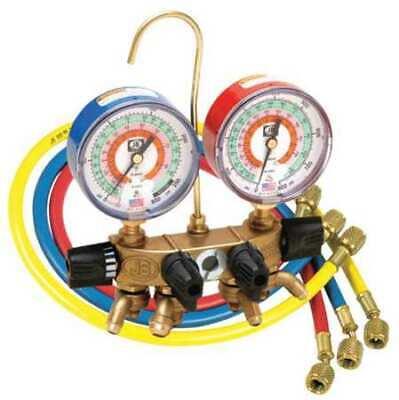 Jb Industries 26200-310 Manifold Gauge 4-valve Gauges Low Side Blue 30 In Hg