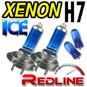 Vauxhall 55w ICE Blue H7 501 Xenon HID Low/Side HeadLight Lamps Bulbs Kit