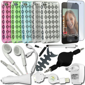 16in1 Accessory Bundle Kit for Apple iPod Touch 4 4th Gen TPU Gel Case+Film+More