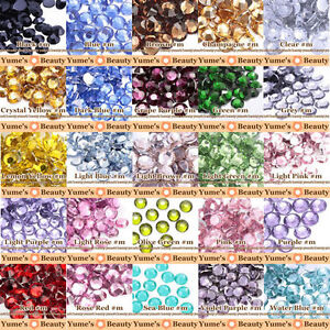 5mm-ss20-Colors-m-Crystal-Bling-Rhinestone-Flatback-Scrapbook-Nail-Art-Craft
