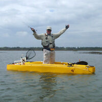 Twin Hull KAYAK for Fishing, Paddling or Motoring with a 2.6HP