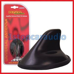 AM/FM Amplified Roof Mount Shark Fin Antenna Aerial