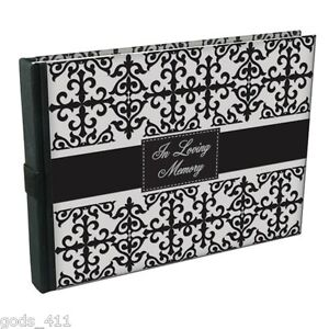 In Loving Memory Guest Book 160 Pages Black & White