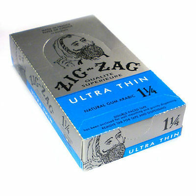 ZIG ZAG ULTRA THIN Cigarette Rolling Papers (12) packs booklets Half Box on Rummage