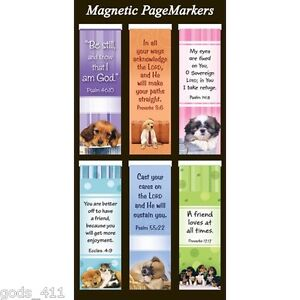 Bookmark Pagemarker Magnetic Dogs Be Still Set Of 6