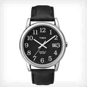 Timex-Mens-Easy-Reader-Watch-Black-Leather-30-Meter-WR-Date-T2N370