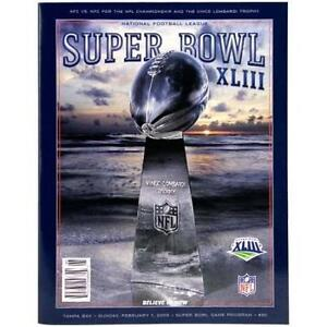 Super Bowl XLIII Official Game Program Steelers 43 Mint