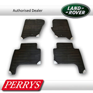 Land Rover Range Rover Sport Black Rubber Front/Rear Mats OE Car Floor Set