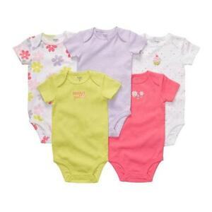 Carters-Set-of-5-Bodysuits-3-6-9-12-18-Months