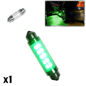 1x Saab 9-3 YS3F 2.0 264 42mm Green Interior Door Bulb LED High Power Light New