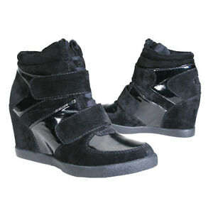 wedge tennis shoe mercer style black wanted shoes