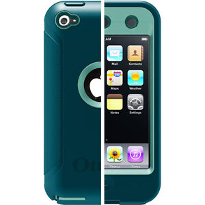 New-Otterbox-Defender-3-Layer-Case-w-Screen-Covered-for-iPod-Touch-4G-Refle-Teal