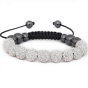 SHAMBALLA BRACELET- DIAMANTE CRYSTAL - DISCO BALLS  - 13 COLOURS - BRAND NEW!!
