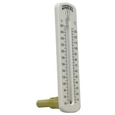Winters Tsw173lf. Thermometer,Analog,40-280 Degf,1/2In Npt