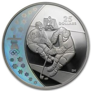 2007 $25 Sterling Silver Coin - Vancouver 2010 Ice Hockey