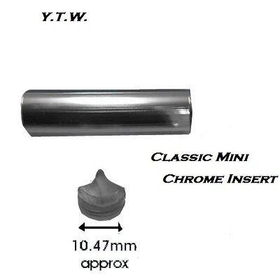 CLASSIC MINI  PLASTIC CHROME WINDSCREEN INSERT  PER METRE