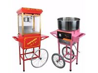 POPCORN AND CANDY FLOSS MACHINE FOR HIRE - CHEAP RATES