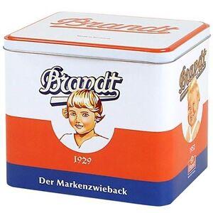 Nostalgie Brandt Dose Zwiebackdose Aufbewahrungsdose Blechdose Brandtdose Kiste