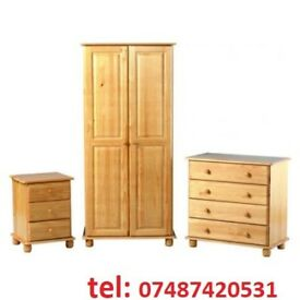 SOLID PINE 3 PIECE BEDROOM SUITE LAST ONE IN STOCK BRAND NEW