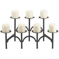 Wrought Iron Fireplace Candle Holder - holds 9
