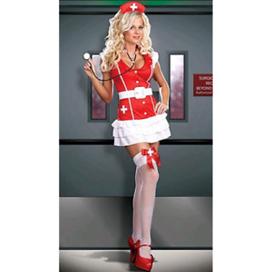 Beautiful Nurse Costume with Accessories, size Small