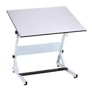 Architect's drafting table, and adjustable chair