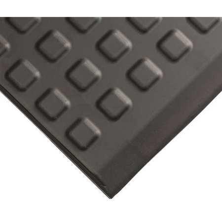 """WEARWELL 502 Black Interlocking Antifatigue Mat 24"""" W x 5 ft. L, 5/8"""", Urethane"""