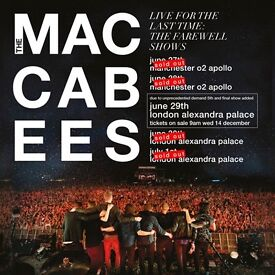 2 x Maccabees Tickets. 1st July.