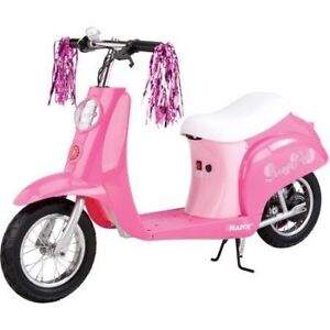 Razor Sweet Pea Girls 24-Volt Electric Scooter 5 and up New !