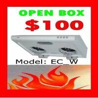 Range Hood under Cabinets Clearance…Open Box from $100 plus!!!