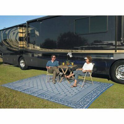 Patio Mats 9' x 12' Reversible RV Patio Mat Indoor Outdoor Rug Camping Mat