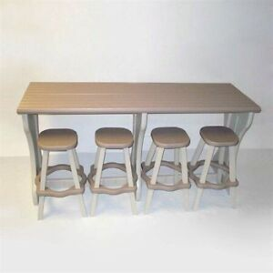 Patio Furniture - outdoor serving table & stool set