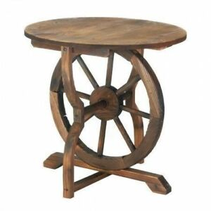WAGON WHEEL TABLE Rustic
