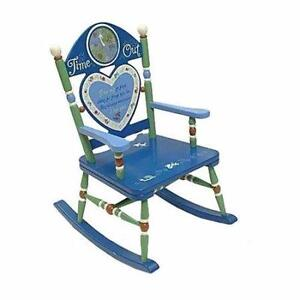 ime Out Kids Rocking Chair whit 20-minute timer built in hand-decorated & crafted heirlooms-to-be