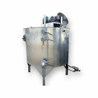 Used Stainless Steel Wall-insulated Coil Heatcool Mix Tank - 560 Gal