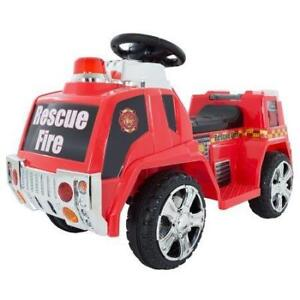 (9 AVAILABLE) New Hey! Play! Ride on Toy, Fire Truck for Kids, Battery Powered, Toddler, PICKUP ONLY