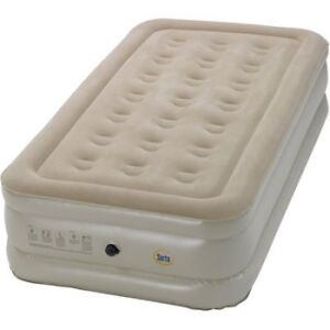 Serta Raised Air Bed with External AC Pump raised TWIN