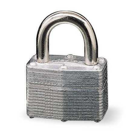 Master Lock 500Ka Padlock, Keyed Alike, Standard Shackle, Rectangular Steel