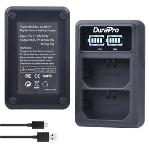 DUAL USB Charger for SONY A9 /A7RIII/ A7III Battery NP-FZ100
