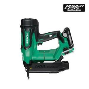 Hitachi NT1850DE 2 18V 18Ga Cordless Brushless Brad Finish Nailer Kit (Refurbished)