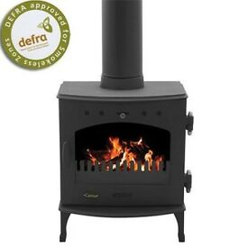 Carron 4.7 mat black multi fuel stove