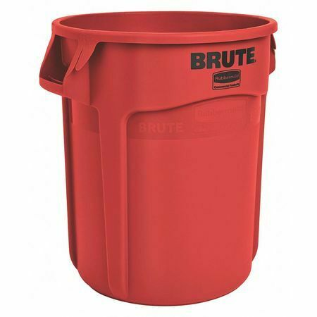 Rubbermaid Fg261000red 10 Gal. Plastic Round Trash Can , Red