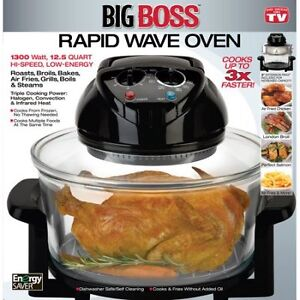 Big Boss 8218 Rapid Wave Halogen Infrared Convection Countertop