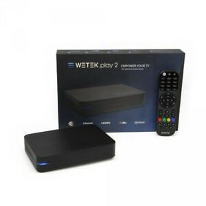 streaming Box-WeTek Play2 MediaCenter 4KUltraHDAndroidTvBrandNew