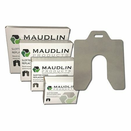 """Maudlin Products Msa002-20 Slotted Shim A-2 X 2"""" X 0.002"""", Pk20"""