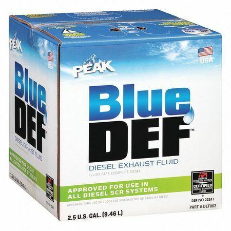 PEAK DEF002 Diesel Exhaust Fluid, Jug, 2.5 gal