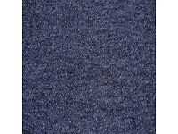 400 Blue Purple Carpet Tiles. Good Condition. Great for home and office. READ DESCRIPTION.