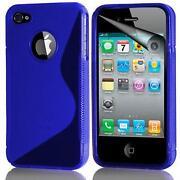 iPhone 4 Blue Silicone Gel Case