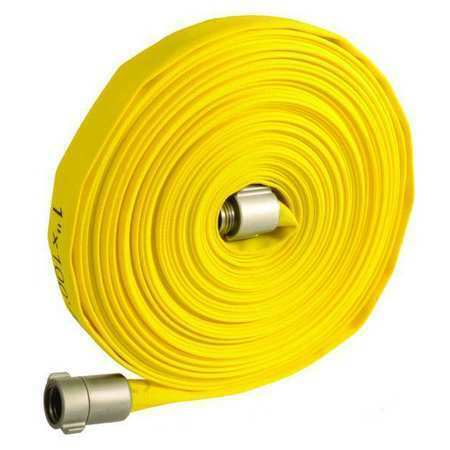 Zoro Select 45Dv09 Fire Hose,1In.X50 Ft.,Nst,Yellow,300 Psi